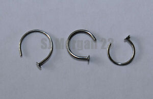 Stainless Steel 316L Nose Stud Ring in Choice of 10 or 8mm. 1 or 0.8mm thick