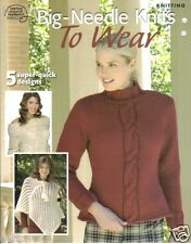 BIG-NEEDLE KNITS TO WEAR  ~  Knitting Book  ~5 patterns to knit