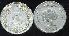 TUNISIE  5 millim  1983  ( bis )