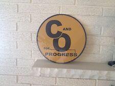 Chesapeake and Ohio (for Progress)  Round Logo Aluminum Sign New