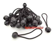 "(25) 9"" Black Ball Bungee Cord Tarp Bungee Tie Down Strap Bungi Canopy Straps"