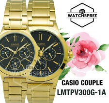 Casio Couple Watch LTPV300G-1A MTPV300G-1A