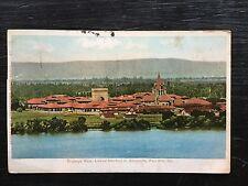 PALO ALTO, CA POST CARD Birdseye LELAND STANFORD JR. UNIVERSITY 1918 postmark