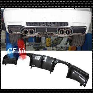 For BMW M3 E92 E93 Carbon Fiber GTS V Style Rear Bumper Diffuser Spoiler