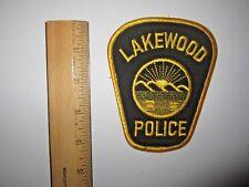LAKEWOOD OHIO POLICE EMBROIDERED PATCH MINT UNUSED