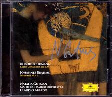 Natalia GUTMAN Signiert SCHUMANN Cello Concerto BRAHMS Serenade 1 Claudio ABBADO
