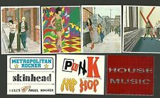 Pop Rock Music Stickers from Italy Punk Hip Hop Hell's Angel Rocker Skinhead