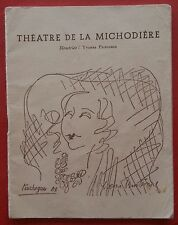 Programme Theatre of the Michodiere Francois Perier Touchagues Bobosse*
