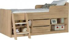 FELIX SONOMA OAK EFFECT LOW SLEEPER SINGLE STORAGE BED *FREE NEXT DAY DELIVERY