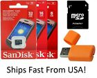 SanDisk microSD HC 8GB 16GB 32GB Class 4 Cell Phone Memory Card Wholesale Lot