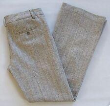 """Express Editor Gray Dress Pants 4  Silver Herringbone Tweed Wool Blend Flare 33"""""""
