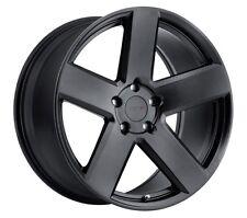 18x8.5/9.5 TSW Bristol 5x112 + 32/35 Black Rims Fits VW cc eos golf jetta gti