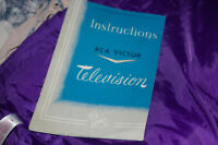 Vintage RCA Victor Television Instruction Manual Warranty Booklet Golden Throat