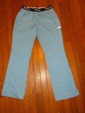 Ladies Greys Anatomy Scrubs Pants Light Blue 4 Pocket Split Flair - Size S