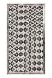 Black and White Diamond Outdoor Rug Large Polypropylene Rug Designer Patio Rug