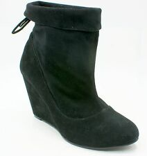 BCBGeneration Wessy Womens Size 9M Black Suede Wedge Fashion Ankle Boots