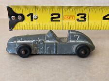 New listing Vintage Silver/Grey MIDGETOY Metal Toy Race Car #7 Rockford, Ill Rubber Wheels