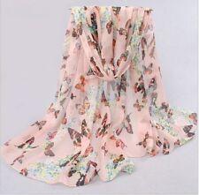 Papillon imprimé col shawl scarve écharpe wrap mariage rose cadeau fête uk