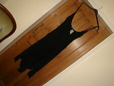bnwt river island black dress stretch sequins party £34.99 strappy size 12