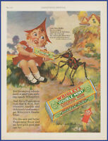 Vintage 1928 WRIGLEY'S Double Mint Chewing Gum Mother Goose Décor 20's Print Ad