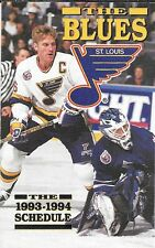 1993-94 NHL HOCKEY SCHEDULE - ST. LOUIS BLUES #16 BRETT HULL