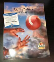 TOM OSBORNE SIGNED NEBRASKA 1996 Fiesta Bowl Program BECKETT WITNESS COA N68281