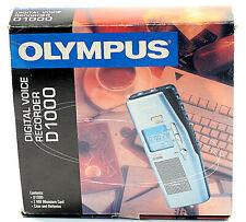 Olympus DS1000 Digital Voice Recorder - Diktiergerät mit Miniatur Karte NEU