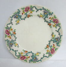 Plate Royal Cauldon England Pattern Victoria V7173 Signed Colorful Flowers Rare