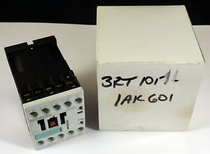 Siemens Power Contactor 3RT1017-1AK61, Size S00 Screw Terminal, New In Box