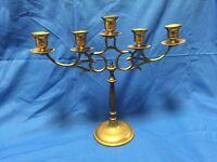 19102 Vintage Ornate Brass Table Buffet Candelabra ~ 5 Candle Holders  Menorah