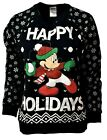 Women's DISNEY Mickey Mouse Holiday Party Ugly Christmas Xmas Sweater Sz M A883