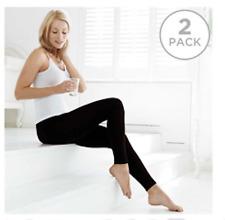 2 x QVC Comfia SLIM PINS Seamless Shaping Slimming LEGGINGS Black Large NEW