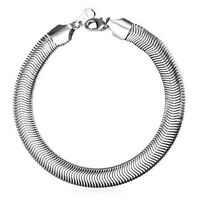 Schlangenarmband Edelstahl 6 mm Armband 20 cm Arm-Schmuck Damen Herren Geschenk