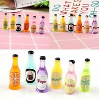 Multicolored fruit soda bottles Kitchen home fruit For Dollhouse Miniature 1:12
