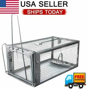 Live Humane Cage Trap for Squirrel Chipmunk Rat Mice Rodent Animal Catcher