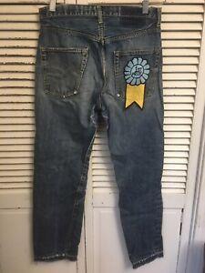 Vtg 1960-70's Levi's 505 Selvedge Denim Jeans Single Stitch Pocket USA 30x28