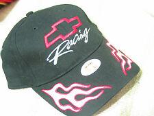 Chevrolet Racing Baseball Cap Hat, Chevy Baseball Cap, Black (not grey)