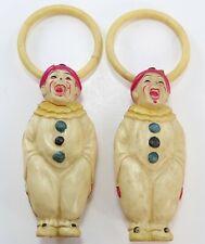 Celluloid Clown Ornaments Vintage Japan Ando Togoro Workshop Antique Toy dolls