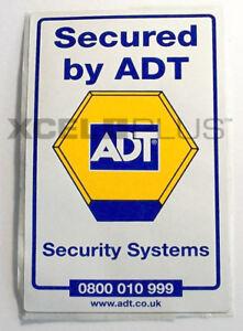 """""""Secured by ADT"""" Interior Alarm Glass Window & Door Stickers"""