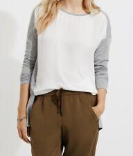 Ann Taylor LOFT Lou & Grey Mediamix Tunic Top Size Small, Medium Moonlight Ivory