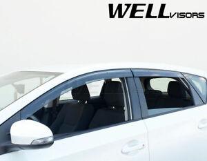 WellVisors Side Window Visors Rain Guards Fit 16-18 Toyota Corolla iM   Scion iM
