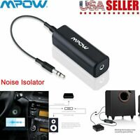 Mpow Ground Loop Noise Isolator Eliminate Humming Car Audio System Stereo 3.5mm