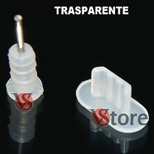 2 Stopper Per iPhone 5-5S-5C /iPod 5/iPad 4 e Mini iPad Anti Polvere TRASPARENTE