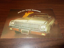 1966 Dodge Dart GT Convertible Advertising Postcard