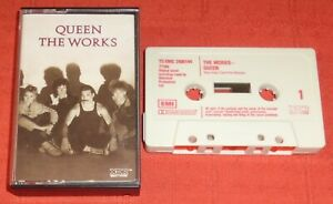 QUEEN - UK CASSETTE TAPE - THE WORKS