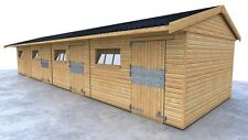 CHEAP TIMBER STABLES 3 STABLES AND 1 TACKROOM FREE DELIVERY & INSTALLATION