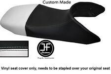 BLACK AND WHITE VINYL CUSTOM FITS HONDA TRANSALP XL 650 SEAT COVER ONLY