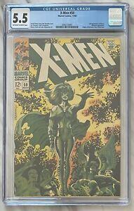 X-Men #50 CGC 5.5 ow/w | 2nd Appearance Of Polaris | Marvel Comics 1968