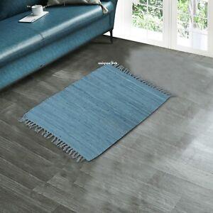 Rug 100% Natural Cotton 2x3 Feet Area Rug Home Decor Chindi Carpet Floor Mat Rug