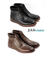 Mens Ankle Lace Up Boots Casual Fashion Chelsea Designer Shoes UK 6 7 8 9 10 11